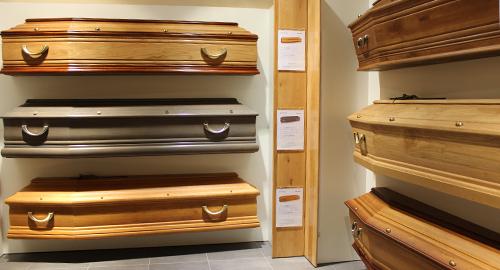 Présentation des cercueils - Guesdon Stéphane